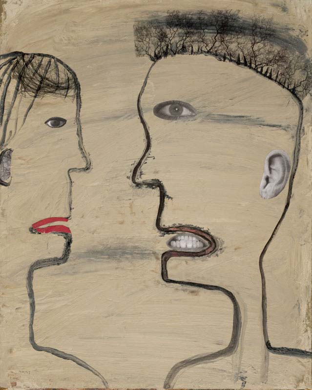 "Couple Talking Intensely 2019 - 15"" x 12"""