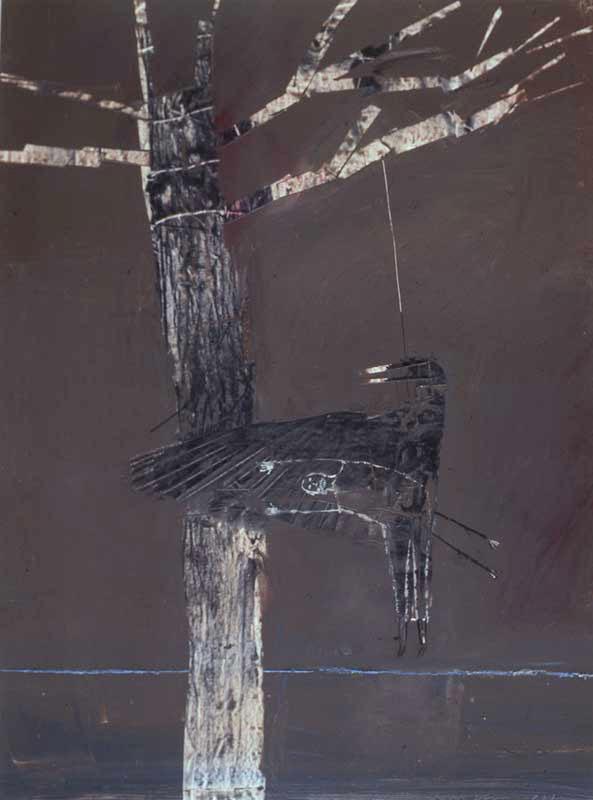 "Crow Hanging - 40"" x 30"""