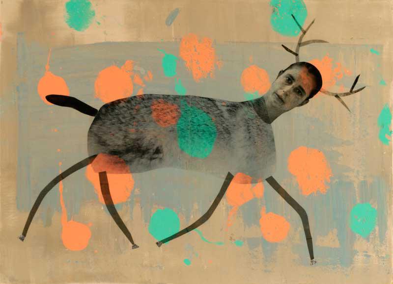 """Deer with Spots 2011 - 24"""" x 17"""""""