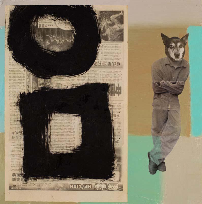 "Dog Man Learning - 24"" x 24"""