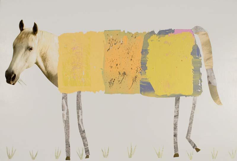 "Horse Grazing 2020 - 35"" x 52"""