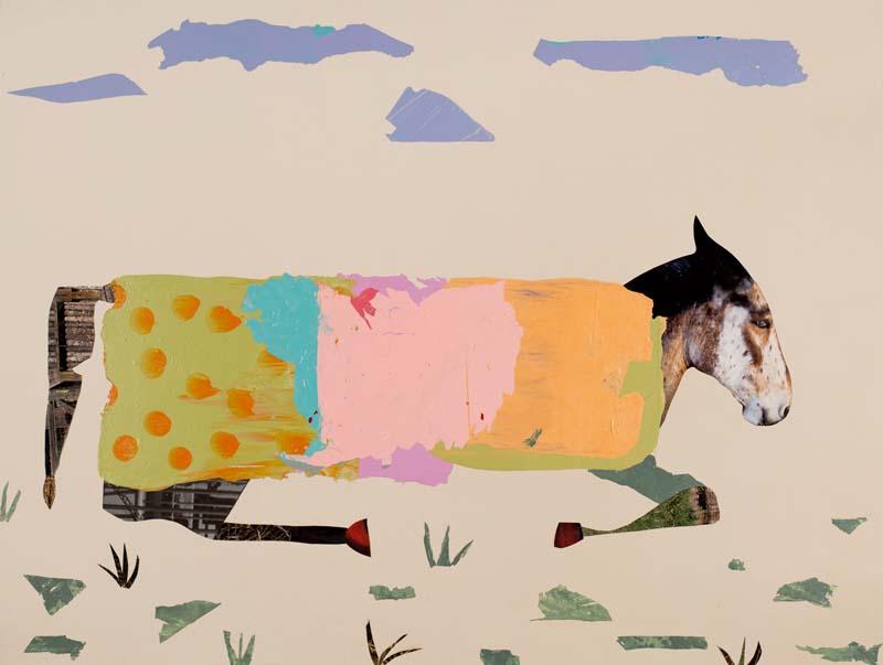 "Horse Resting 2020 - 36"" x 48"""