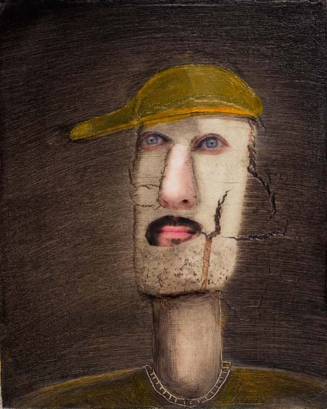 "Man with Yellow Cap 2020 - 10"" x 8"""