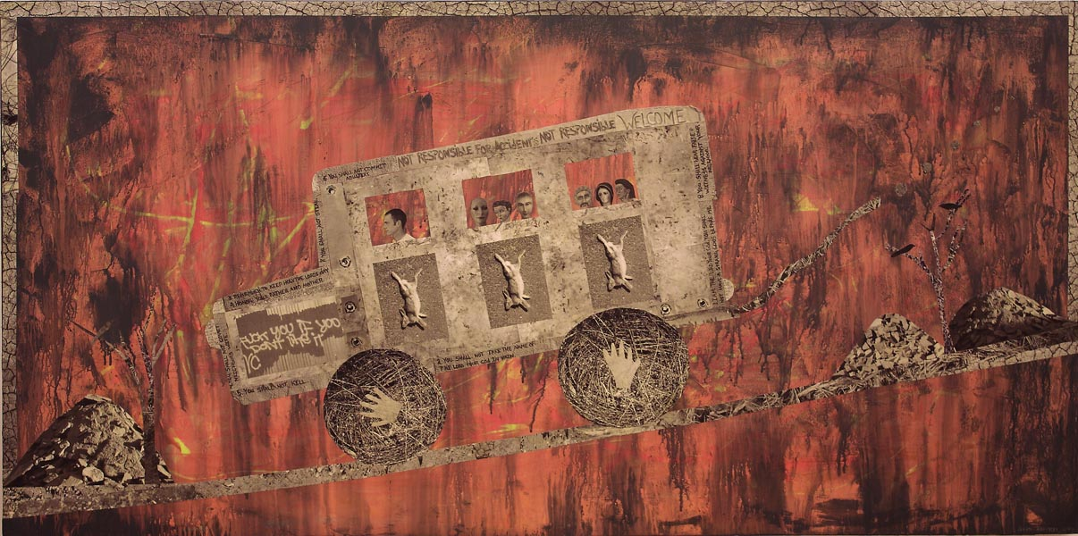 "Rabbit Truck - 30"" x 60"""