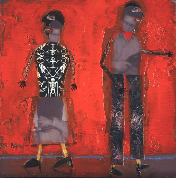 """Red Couple - 7"""" x 7"""""""