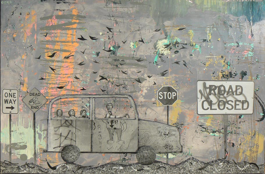 "Road Closed 2007 - 32"" x 48"""