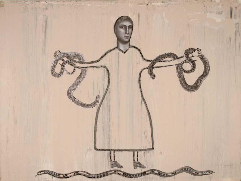 """Snake Handler 2016 - 29"""" x 40"""""""