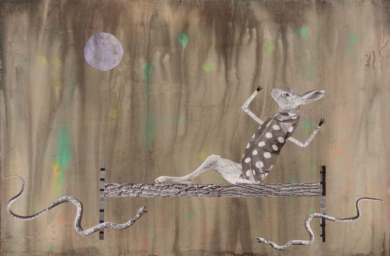 "Startled Rabbit 2014 - 24"" x 30"""